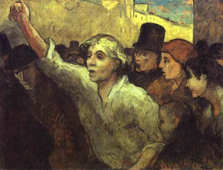 Honore Daumier. The Insurrection.
