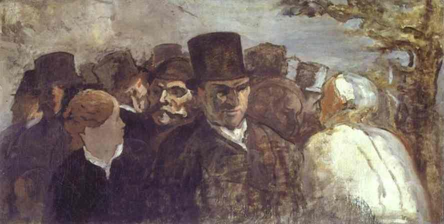 Honore Daumier. Passers By.