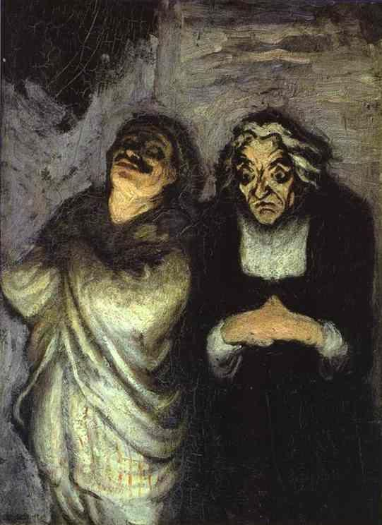 Honore Daumier. Scapin...