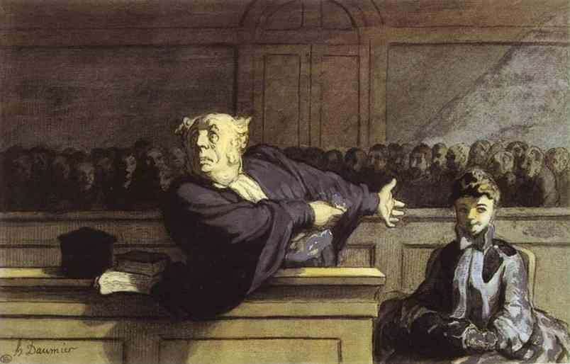 Honore Daumier. The Defender.