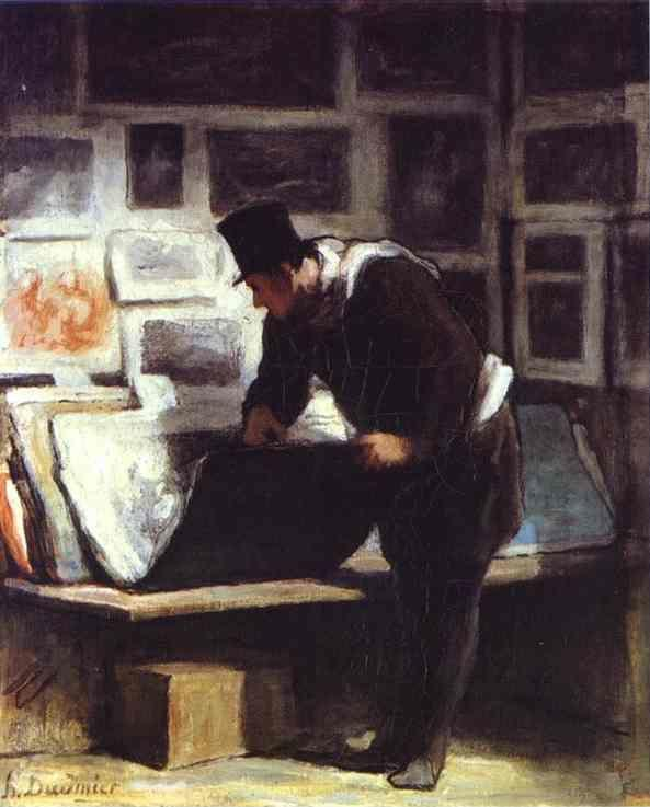 Honore Daumier. The Etching Amateur.
