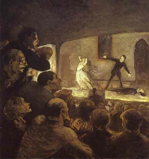 Honore Daumier. In the Theater.