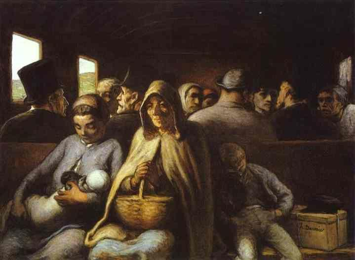 Honore Daumier. A Wagon of the Third Class.