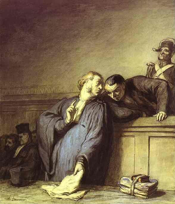 Honore Daumier. A Criminal Case.