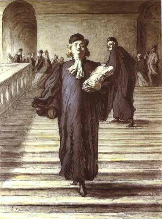 Honore Daumier. Grand Staircase of the Palace of Justice.