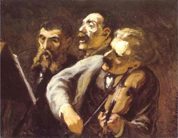 Honore Daumier. Three Amateur Musicians.