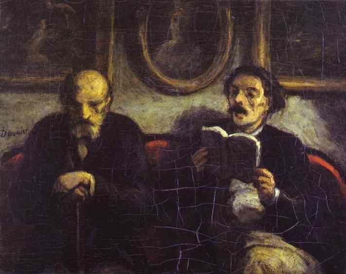 Honore Daumier. Reading of a Poem.