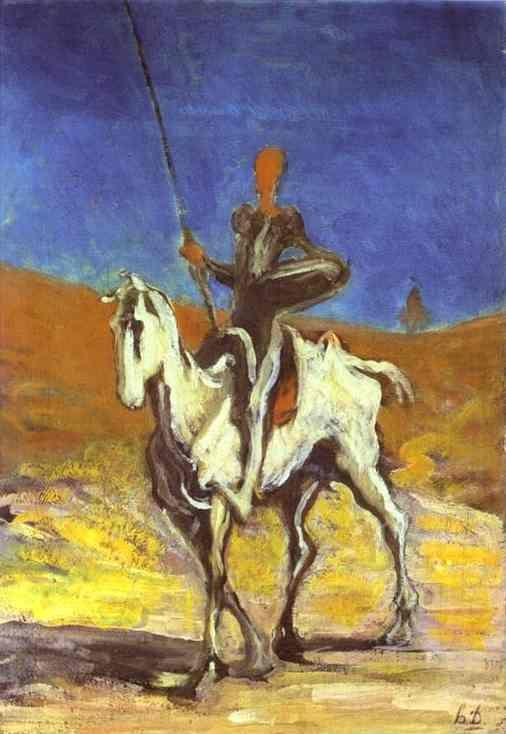 Honore Daumier. Don Quixote and Sancho Pansa.