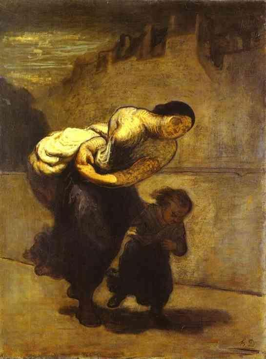 Honore Daumier. The Burden (The Laundress).