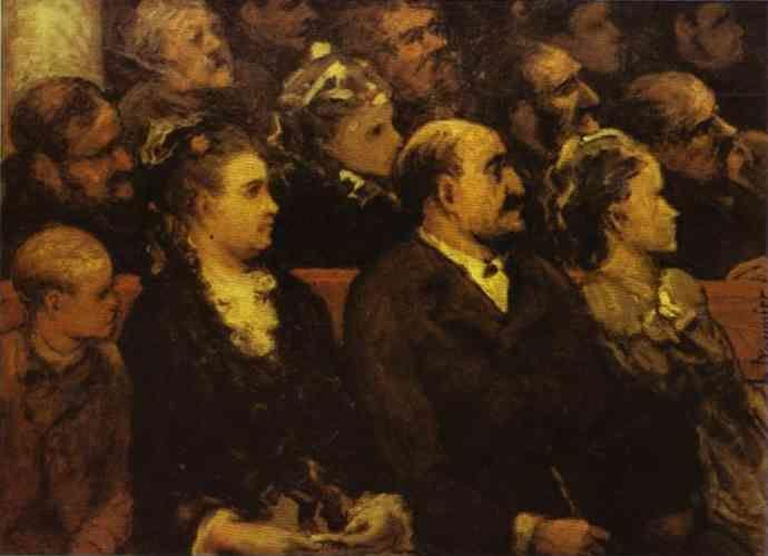 Honore Daumier. French Theatre.