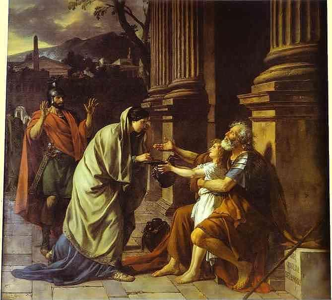 Jacques-Louis David. Belisaire demandant l'aumone.