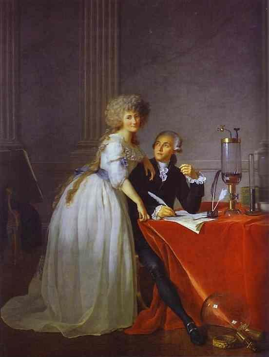 Jacques-Louis David. Portrait of Antoine-Laurent and Marie-Anne Lavoisier.