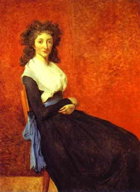 Jacques-Louis David. Portrait of Madame Charles-Louis Trudaine.