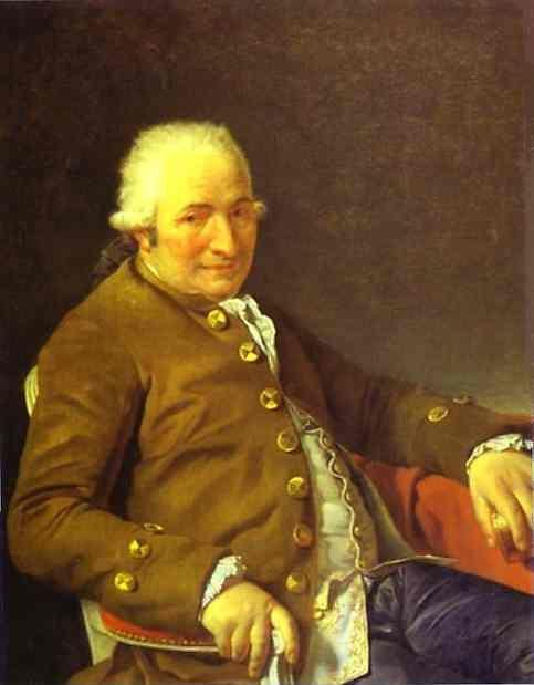 Jacques-Louis David. Portrait of Charles-Pierre Pécoul, Contractor of Royal Buildings, Father-in-Law of the Artist.