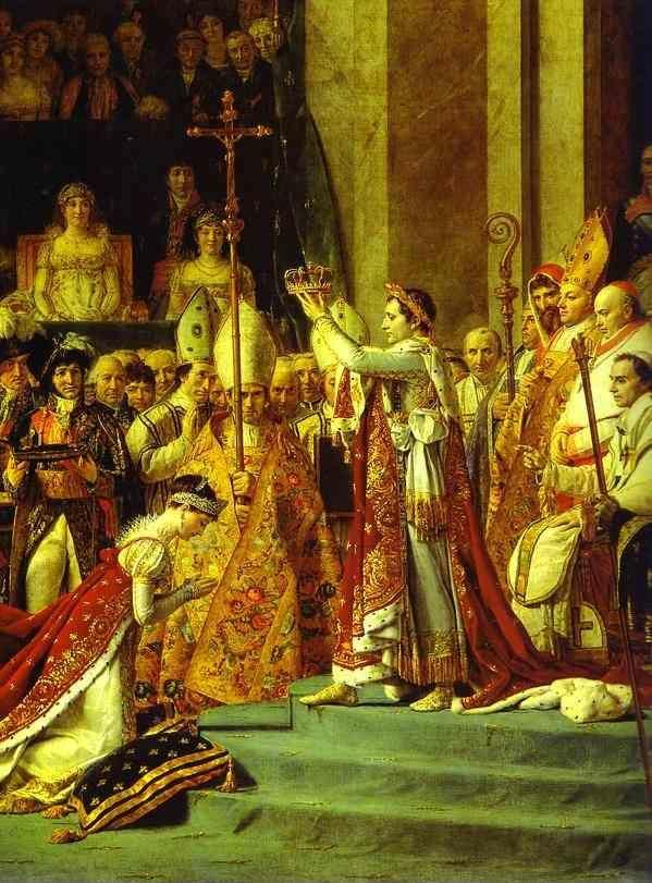 Jacques-Louis David. Consecration of the Emperor Napoleon I and Coronation of the Empress Josephine in the Cathedral of Notre-Dame de Paris on 2 December 1804. Detail.
