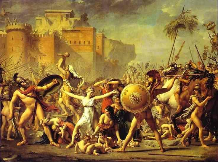 Jacques-Louis David. The Intervention of the Sabine Women.