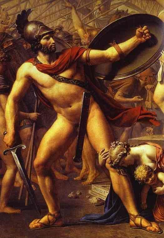 Jacques-Louis David. The Intervention of the Sabine Women. Detail.