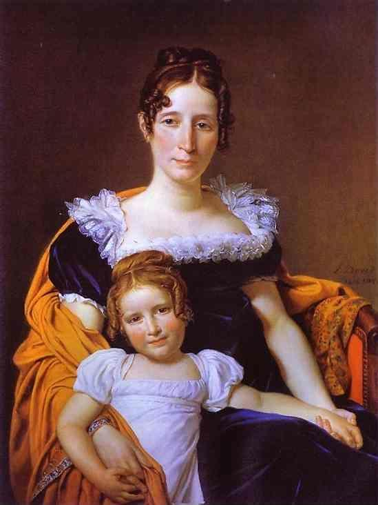 Jacques-Louis David. Portrait of the Countess Vilain XIIII and Her Daughter.