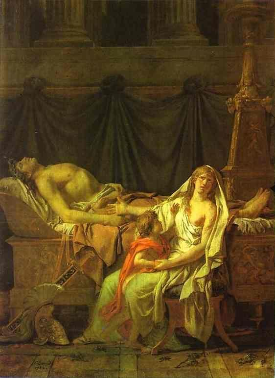 Jacques-Louis David. Andromache Mourning Hector.