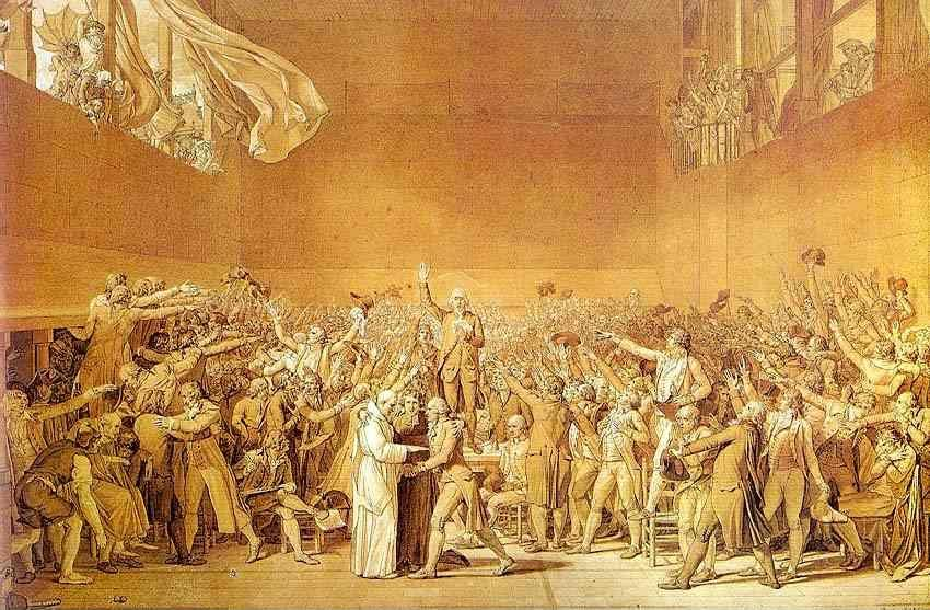 Jacques-Louis David. The Oath of the Tennis Court.