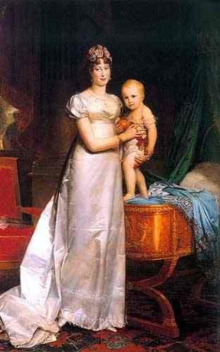 François-Pascal-Simon Gérard. Marie-Louise, Empress of France with Her son Napoleon II, King of Rome.