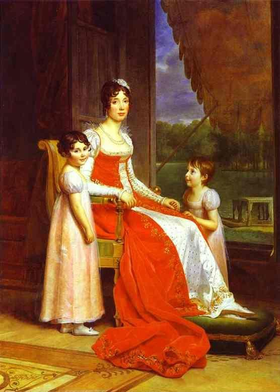 Francois-Pascal-Simon Gerard. Marie-Julie Bonaparte, Queen of Spain, with Her Two Daughters Charlotte and