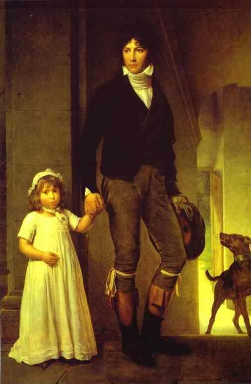François-Pascal-Simon Gérard. Portrait of the Painter Jean-Baptiste Isabey (1767-1855) with His Daughter.