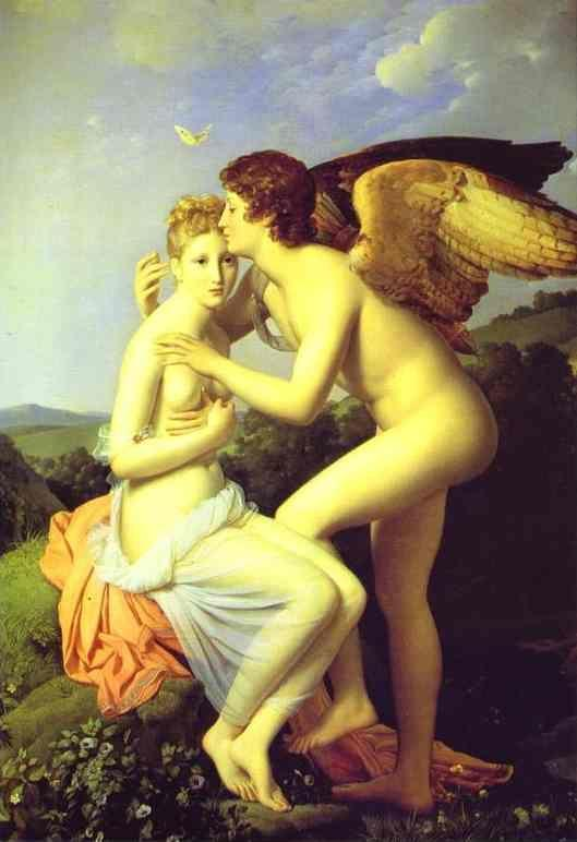 François-Pascal-Simon Gérard. Amor and Psyche, also known as Psyche Receiveing Her First Kiss of Love.