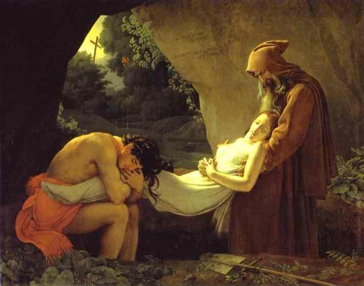 Anne-Louis Girodet de Roussy-Trioson. . The Burial of Atala.