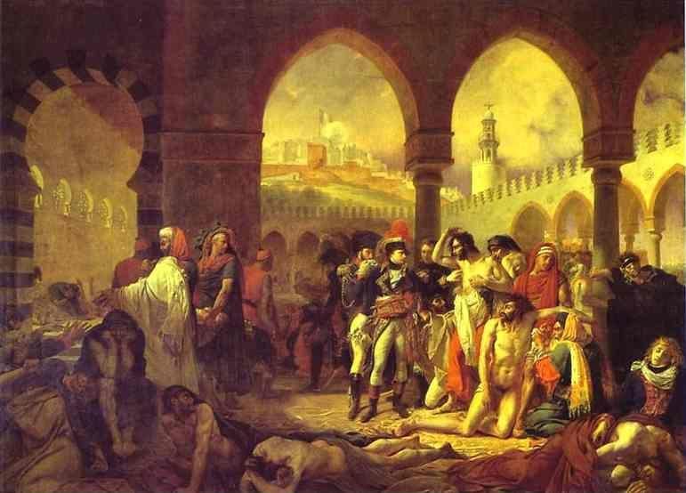 Antoine-Jean Gros. Bonaparte Visiting the Plague-Striken at Jaffa on 11 March 1799.