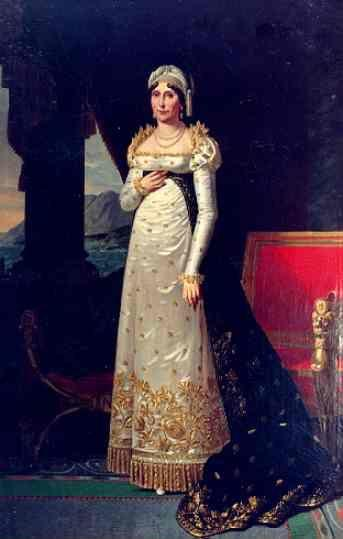 Robert Lefèvre. Portrait of Letizia Bonaparte (1750-1836), Mother of the Emperor Napoleon I.
