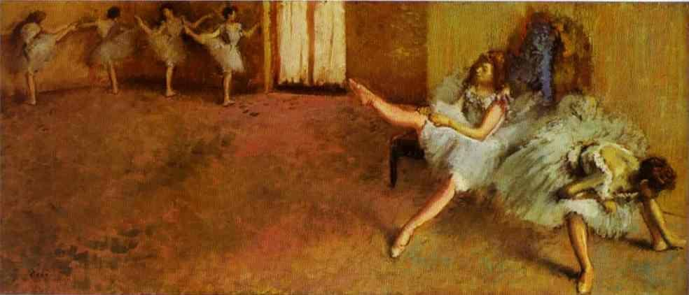 Edgar Degas. Before the Ballet.