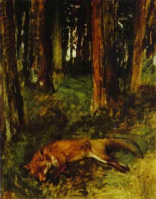 Edgar Degas. The Dead Fox.