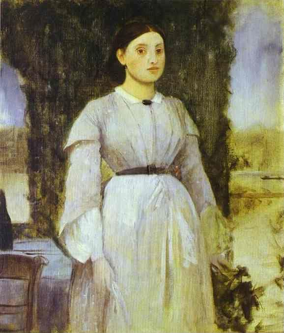 Edgar Degas. Young Woman Standing Next to a Table.