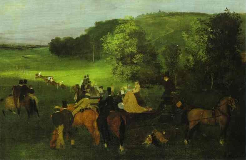 Edgar Degas. On the Racing Field.