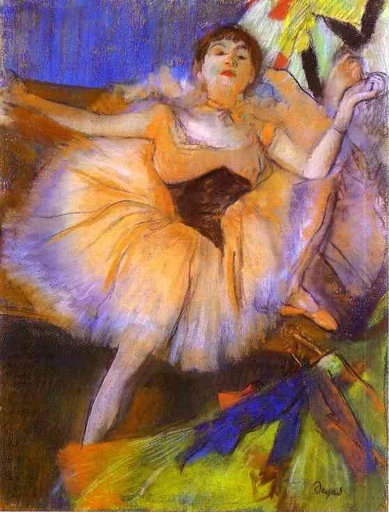 Edgar Degas. Sitting Dancer (Danseuse assise).