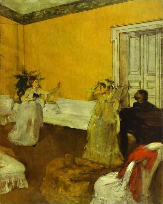 Edgar Degas. The Song Rehearsal.