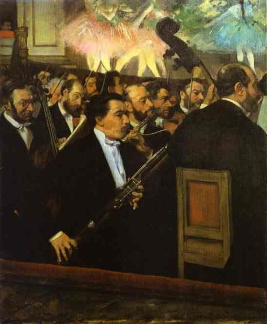 Edgar Degas. The Orchestra at the Opera House.