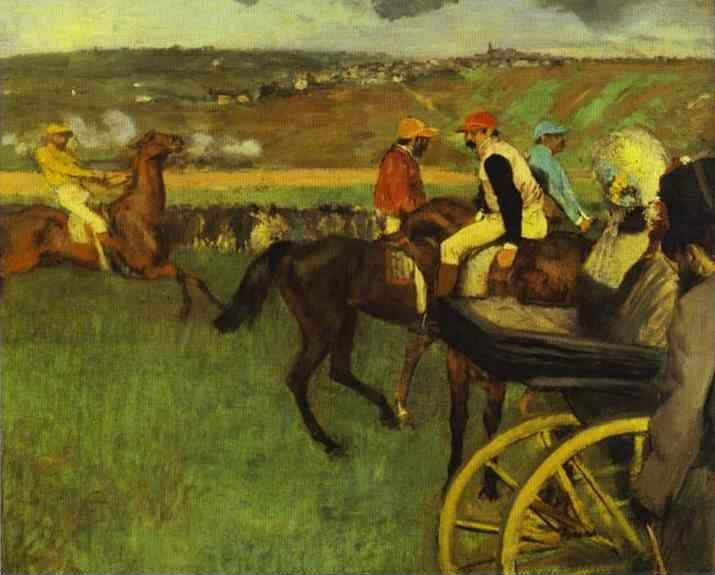 Edgar Degas. At the Races, Amateur Jockeys.