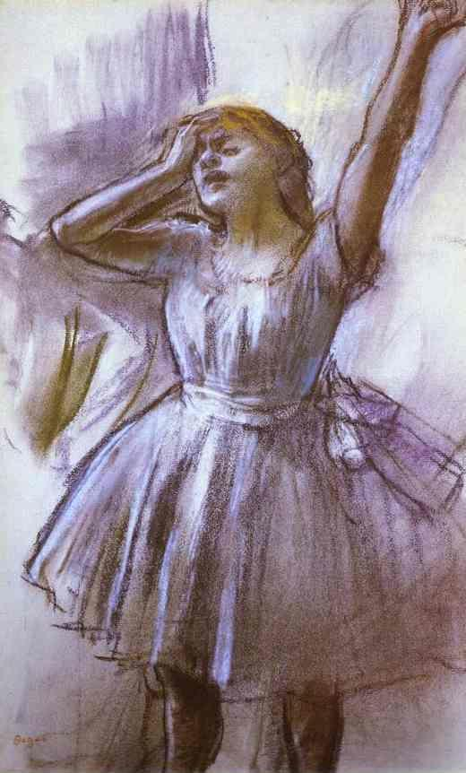 Edgar Degas. Tired Dancer.