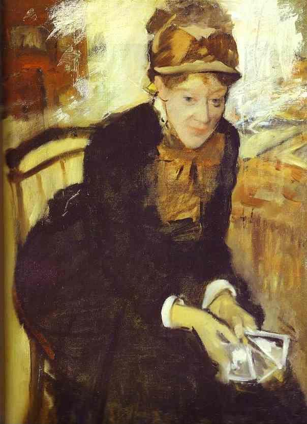 Edgar Degas. Portrait of Mary Cassat.
