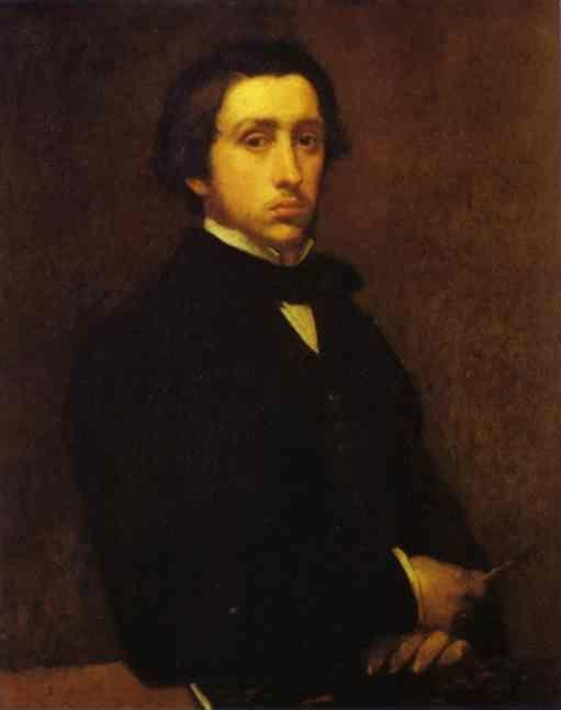 Edgar Degas. Self-Portrait.