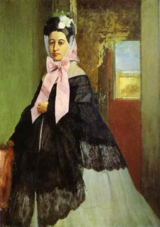 Edgar Degas. Portrait of Marguerite de Gas, the Artist's Sister.