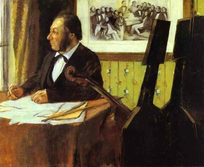 Edgar Degas. Portrait of Louis-Marie Pilet, Violoncellist in the Orchestra of the Opera.
