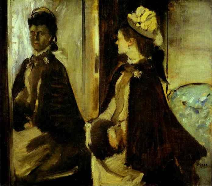 Edgar Degas. Mme. Jeantaud at the Mirror.