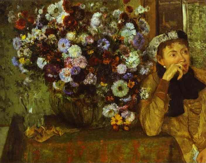 Edgar Degas. Woman with Chrysanthemums.