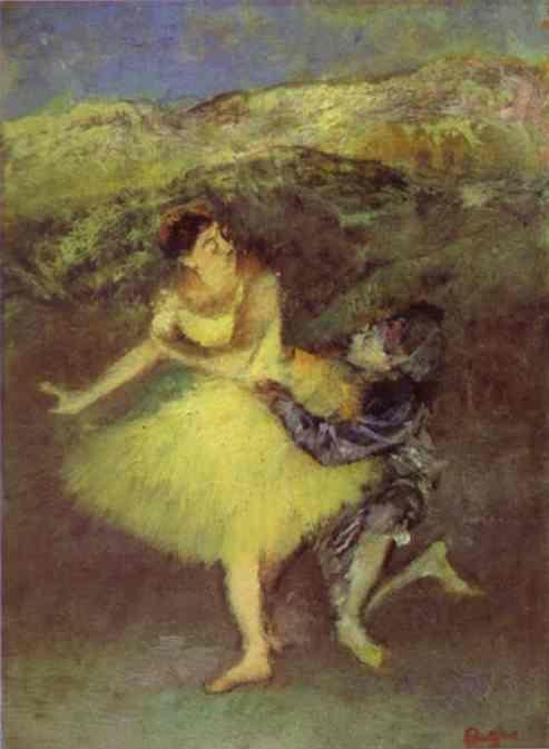 Edgar Degas. Harlequin and Colombine.