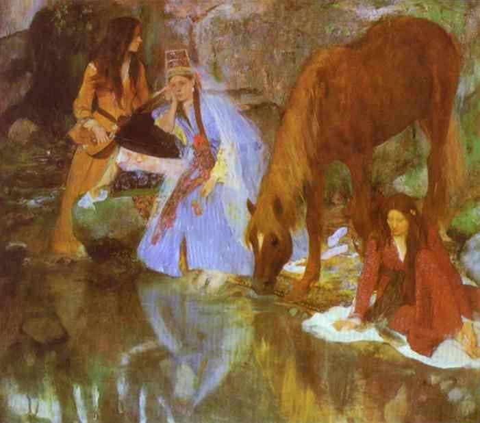 "Edgar Degas. Mme Eugenie Fiocre in the Ballet ""La Source""."