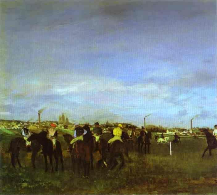 Edgar Degas. The Races. Before the Start.