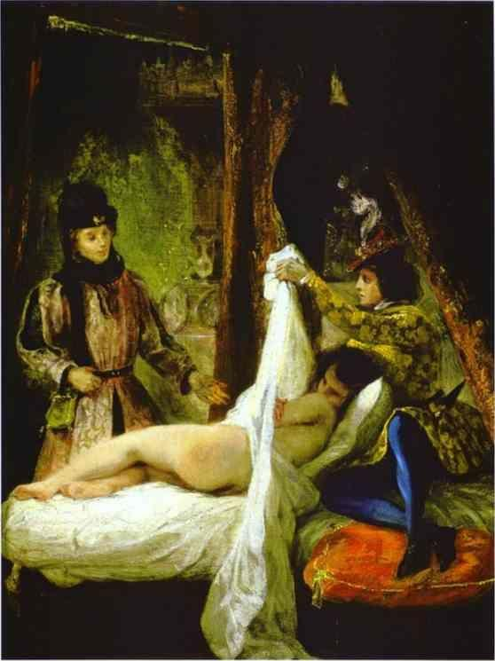 Eugène Delacroix. Louis d'Orléans Showing His Mistress.